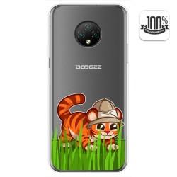 Funda Gel Transparente para Doogee X95 diseño Tigre Dibujos