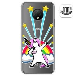Funda Gel Transparente para Doogee X95 diseño Unicornio Dibujos