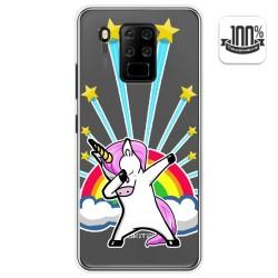 Funda Gel Transparente para Oukitel C18 Pro diseño Unicornio Dibujos