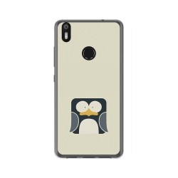 Funda Gel Tpu para Bq Aquaris X / X Pro Diseño Pingüino Dibujos