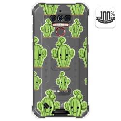 Funda Gel Transparente para Oukitel Wp5 diseño Cactus Dibujos