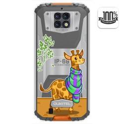 Funda Gel Transparente para Oukitel Wp6 diseño Jirafa Dibujos