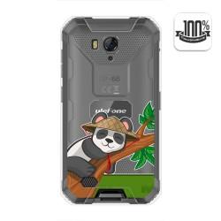 Funda Gel Transparente para Ulefone Armor X6 diseño Panda Dibujos