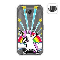 Funda Gel Transparente para Ulefone Armor X6 diseño Unicornio Dibujos