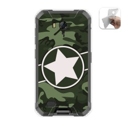Funda Gel Tpu para Ulefone Armor X6 diseño Camuflaje 01 Dibujos