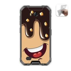 Funda Gel Tpu para Ulefone Armor X6 diseño Helado Chocolate Dibujos