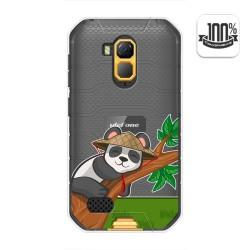 Funda Gel Transparente para Ulefone Armor X7 / X7 Pro diseño Panda Dibujos