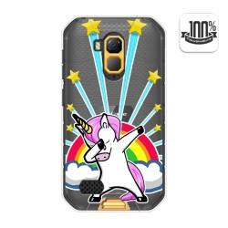 Funda Gel Transparente para Ulefone Armor X7 / X7 Pro diseño Unicornio Dibujos