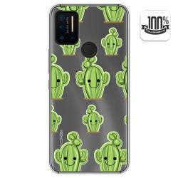 Funda Gel Transparente para Umidigi A7 Pro diseño Cactus Dibujos