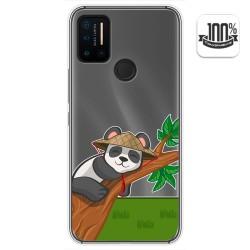 Funda Gel Transparente para Umidigi A7 Pro diseño Panda Dibujos