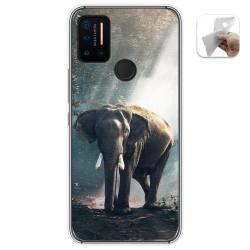 Funda Gel Tpu para Umidigi A7 Pro diseño Elefante Dibujos