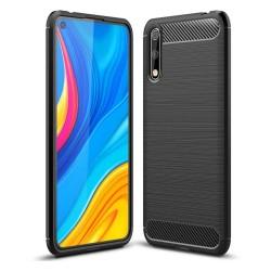 Funda Gel Tpu Tipo Carbon Negra para Huawei P Smart S / Y8p