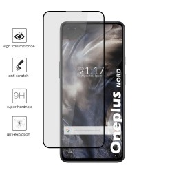 Protector Cristal Templado Completo 5D Full Glue Negro para OnePlus Nord Vidrio