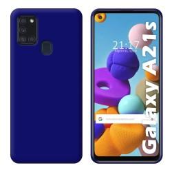 Funda Silicona Gel TPU Azul para Samsung Galaxy A21s