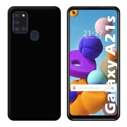 Funda Silicona Gel TPU Negra para Samsung Galaxy A21s