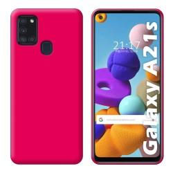 Funda Silicona Gel TPU Rosa para Samsung Galaxy A21s