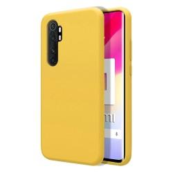 Funda Silicona Líquida Ultra Suave para Xiaomi Mi Note 10 Lite color Amarilla