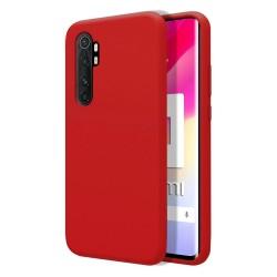 Funda Silicona Líquida Ultra Suave para Xiaomi Mi Note 10 Lite color Roja