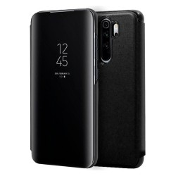 Funda Flip Cover Clear View para Xiaomi Redmi 9 color Negra
