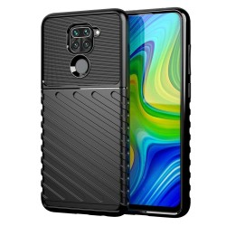 Funda Gel Flexible Thunder Armor Rugged Xiaomi Redmi Note 9 Negra