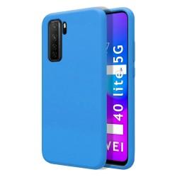 Funda Silicona Líquida Ultra Suave para Huawei P40 Lite 5G color Azul