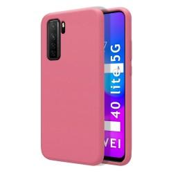 Funda Silicona Líquida Ultra Suave para Huawei P40 Lite 5G color Rosa