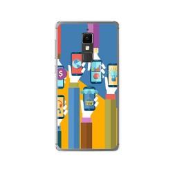 Funda Gel Tpu para Elephone S3 Diseño Apps Dibujos