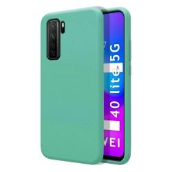 Funda Silicona Líquida Ultra Suave para Huawei P40 Lite 5G color Verde