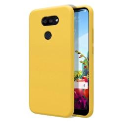 Funda Silicona Líquida Ultra Suave para Lg K40S color Amarilla