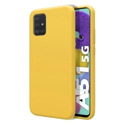 Funda Silicona Líquida Ultra Suave para Samsung Galaxy A51 5G color Amarilla