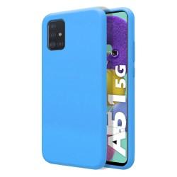 Funda Silicona Líquida Ultra Suave para Samsung Galaxy A51 5G color Azul