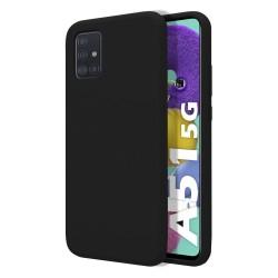 Funda Silicona Líquida Ultra Suave para Samsung Galaxy A51 5G color Negra