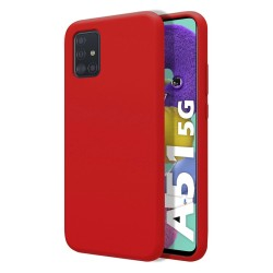 Funda Silicona Líquida Ultra Suave para Samsung Galaxy A51 5G color Roja