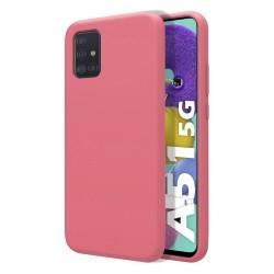 Funda Silicona Líquida Ultra Suave para Samsung Galaxy A51 5G color Rosa