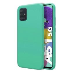 Funda Silicona Líquida Ultra Suave para Samsung Galaxy A51 5G color Verde