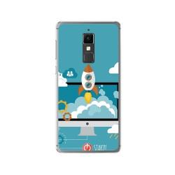 Funda Gel Tpu para Elephone S3 Diseño Cohete Dibujos