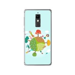 Funda Gel Tpu para Elephone S3 Diseño Familia Dibujos