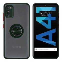 Funda Mate con Borde Verde y Anillo Giratorio 360 para Samsung Galaxy A41