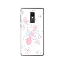 Funda Gel Tpu para Elephone S3 Diseño Flores Minimal Dibujos
