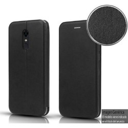 Funda Libro Soporte Magnética Elegance Negra para Huawei Y5p