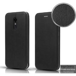 Funda Libro Soporte Magnética Elegance Negra para Huawei Y6p