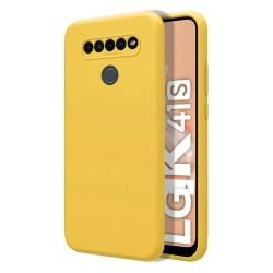 Funda Silicona Líquida Ultra Suave para Lg K41s color Amarilla