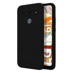 Funda Silicona Líquida Ultra Suave para Lg K61 color Negra