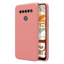 Funda Silicona Líquida Ultra Suave para Lg K61 color Rosa