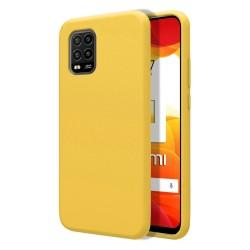 Funda Silicona Líquida Ultra Suave para Xiaomi Mi 10 Lite color Amarilla