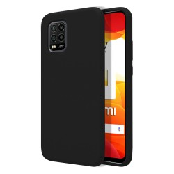 Funda Silicona Líquida Ultra Suave para Xiaomi Mi 10 Lite color Negra