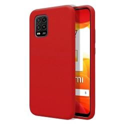 Funda Silicona Líquida Ultra Suave para Xiaomi Mi 10 Lite color Roja