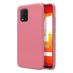 Funda Silicona Líquida Ultra Suave para Xiaomi Mi 10 Lite color Rosa
