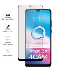 Protector Cristal Templado Completo 5D Full Glue Negro para Alcatel 3X 4CAM