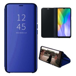 Funda Flip Cover Clear View para Huawei Y6p color Azul